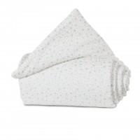 babybay Nestchen Organic Cotton passend für Modell Maxi, Boxspring und Comfort, weiß Glitzersterne m