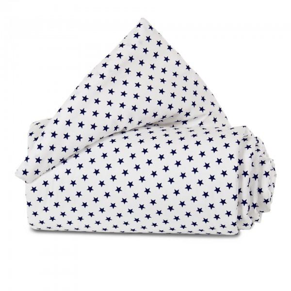 babybay Nestchen Organic Cotton passend für Modell Maxi, Boxspring und Comfort, weiß Sterne blau