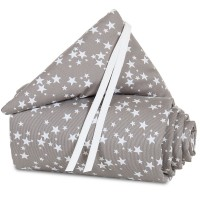 babybay Nestchen Piqué passend für Modell Boxspring XXL, taupe Sterne weiß