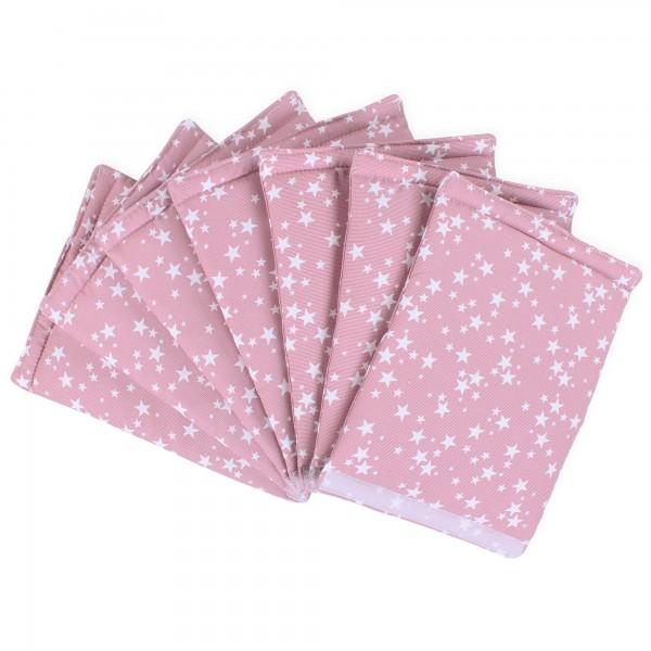babybay Nestchen Ultrafresh Piqué passend für Modell Maxi, Boxspring, Comfort, Mini und Midi, beere Sterne weiß