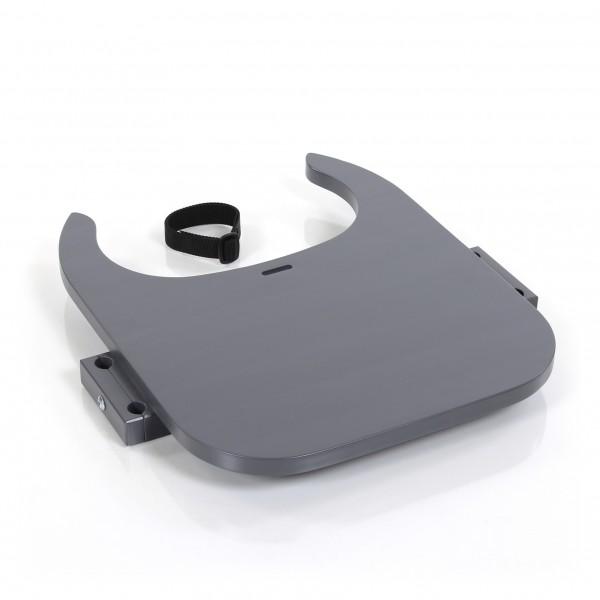 babybay Tischplatte Hochstuhlumrüstsatz passend für Modell Original, Maxi und Comfort, schiefergrau