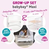 babybay Grow-up Set Maxi mit Matratze Klima Wave und Umbausatzmatratze Klima extraluftig