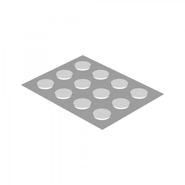 Zub( ) Filzgleiter weiß 12 Stück für All in One Kinderbett