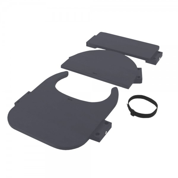 babybay Hochstuhlumrüstsatz passend für Modell Original, Maxi und Comfort, schiefergrau lackiert