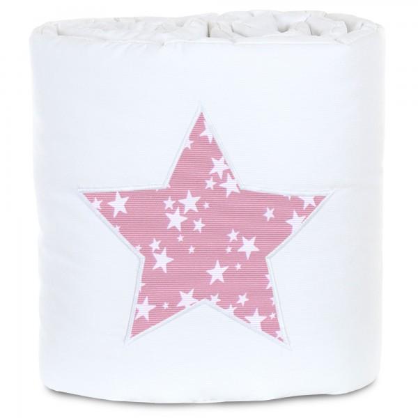 babybay Nestchen Piqué passend für Modell Maxi, Boxspring und Comfort, weiß Applikation Stern beere Sterne weiß