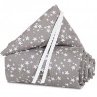 babybay Nestchen Piqué für Original, taupe Sterne weiß