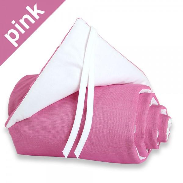 Nestchen babybay maxi cotton pink/weiß