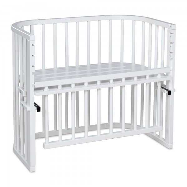 babybay Maxi Comfort Plus Beistellbett, weiß lackiert