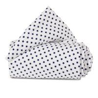 babybay Nestchen Organic Cotton passend für Modell Maxi, Boxspring, Comfort und Comfort Plus, weiß Sterne blau