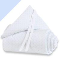 babybay mini/midi Piqué Nestchen weiß Punkte hellblau
