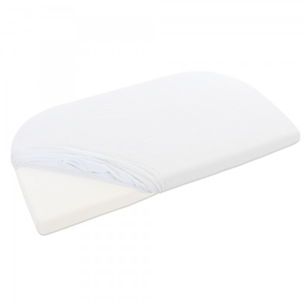 babybay Frottee Spannbetttuch mit Membran passend für Modell Maxi, Midi, Mini, Boxspring, Trend und Comfort, weiß