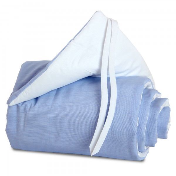 babybay Nestchen Cotton passend für Modell Maxi, Boxspring und Comfort, blau/weiß