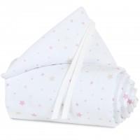 babybay Nestchen Piqué für Maxi, Boxspring und Comfort, weiß Sternemix sand/beere