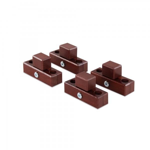 babybay Verbindungsbacken zum Laufstall passend für Modell Original, Midi, Mini, Maxi und Boxspring, dunkelbraun lackiert
